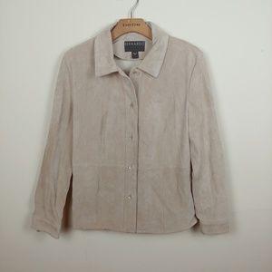 Bernardo for Nordstrom Tan Leather Jacket.